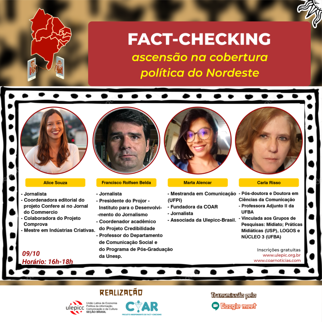 Última mesa de Webinário trata do fact-checking no Nordeste